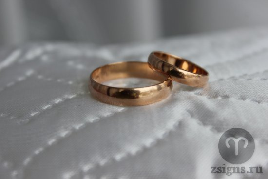 zolotye-obruchalnye-kolca-na-svadebnom-plate