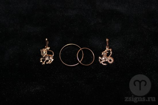 zolotye-obruchalnye-kolca-kulon-znak-zodiak-lev-kozerog
