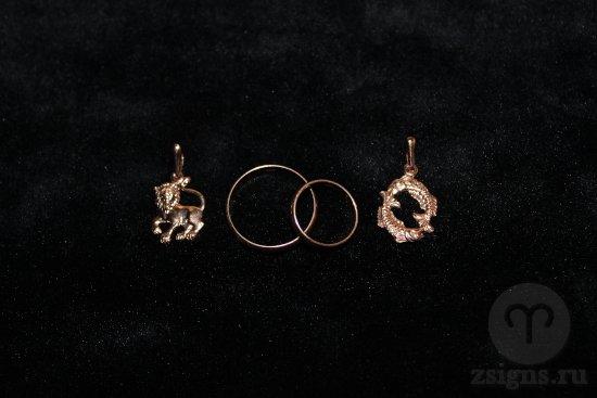 zolotye-obruchalnye-kolca-kulon-znak-zodiaka-lev-ryby
