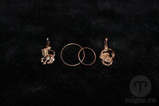 zolotye-obruchalnye-kolca-kulon-znak-zodiak-lev-skorpion