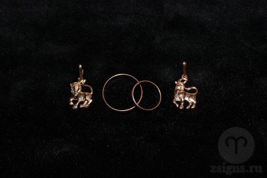 zolotye-obruchalnye-kolca-kulon-znak-zodiak-lev-telec