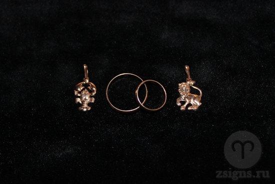zolotye-obruchalnye-kolca-kulon-znak-zodiaka-rak-lev