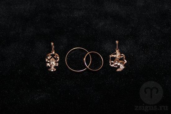 zolotye-obruchalnye-kolca-znak-zodiaka-rak-strelec